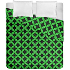 Circles3 Black Marble & Green Colored Pencil Duvet Cover Double Side (california King Size) by trendistuff