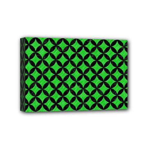 Circles3 Black Marble & Green Colored Pencil (r) Mini Canvas 6  X 4  by trendistuff
