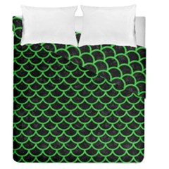 Scales1 Black Marble & Green Colored Pencil Duvet Cover Double Side (queen Size) by trendistuff