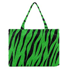 Skin3 Black Marble & Green Colored Pencil (r) Zipper Medium Tote Bag by trendistuff