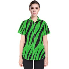 Skin3 Black Marble & Green Colored Pencil (r) Women s Short Sleeve Shirt