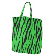 Skin3 Black Marble & Green Colored Pencil (r) Giant Grocery Zipper Tote by trendistuff