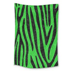 Skin4 Black Marble & Green Colored Pencil Large Tapestry by trendistuff