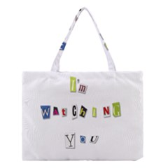 I Am Watching You Medium Tote Bag by Valentinaart