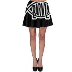 Darwin Fish Skater Skirt by Valentinaart