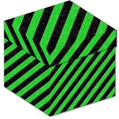 Stripes3 Black Marble & Green Colored Pencil Storage Stool 12   by trendistuff
