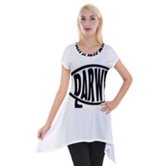 Darwin Fish Short Sleeve Side Drop Tunic by Valentinaart