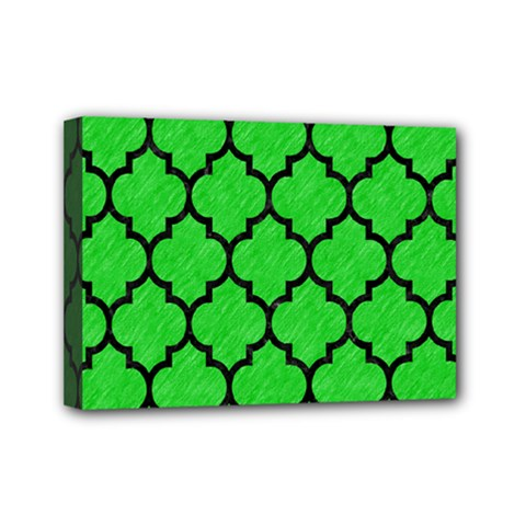 Tile1 Black Marble & Green Colored Pencil (r) Mini Canvas 7  X 5  by trendistuff