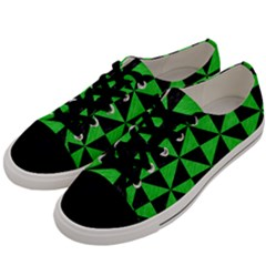 Triangle1 Black Marble & Green Colored Pencil Men s Low Top Canvas Sneakers by trendistuff