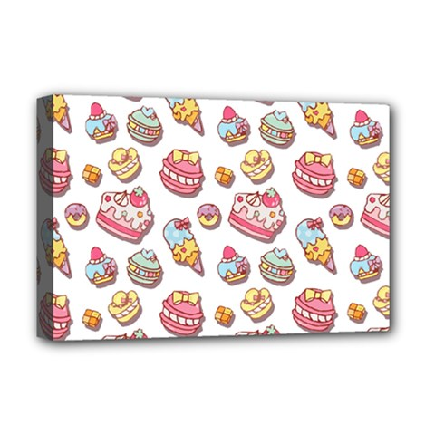Sweet Pattern Deluxe Canvas 18  X 12   by Valentinaart