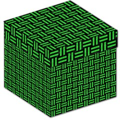 Woven1 Black Marble & Green Colored Pencil Storage Stool 12   by trendistuff