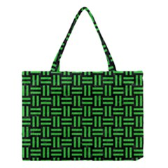 Woven1 Black Marble & Green Colored Pencil Medium Tote Bag by trendistuff