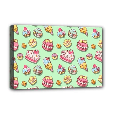 Sweet Pattern Deluxe Canvas 18  X 12   by Valentinaart