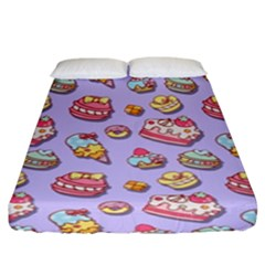 Sweet Pattern Fitted Sheet (king Size) by Valentinaart