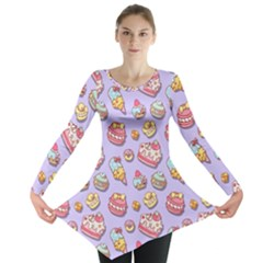 Sweet Pattern Long Sleeve Tunic  by Valentinaart
