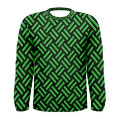 Woven2 Black Marble & Green Colored Pencil Men s Long Sleeve Tee