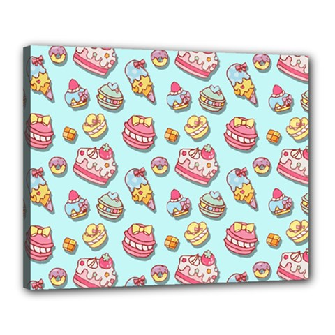 Sweet Pattern Canvas 20  X 16  by Valentinaart