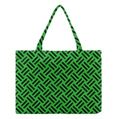 Woven2 Black Marble & Green Colored Pencil (r) Medium Tote Bag by trendistuff
