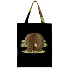 Cute Elephant Zipper Classic Tote Bag by Valentinaart