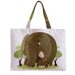 Cute Elephant Zipper Mini Tote Bag by Valentinaart