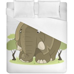 Cute Elephant Duvet Cover (california King Size)