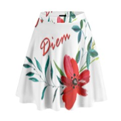 Carpe Diem  High Waist Skirt by Valentinaart