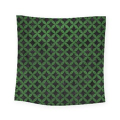 Circles3 Black Marble & Green Leather Square Tapestry (small) by trendistuff
