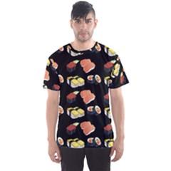 Sushi Pattern Men s Sports Mesh Tee