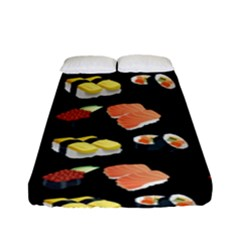 Sushi Pattern Fitted Sheet (full/ Double Size) by Valentinaart