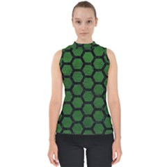 Hexagon2 Black Marble & Green Leather (r) Shell Top