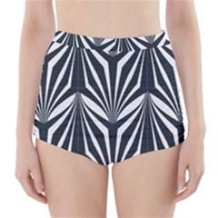 Art Deco, Black,white,graphic Design,vintage,elegant,chic High Waisted Bikini Bottoms by 8fugoso