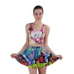Magic Cube Abstract Art Mini Skirt by 8fugoso