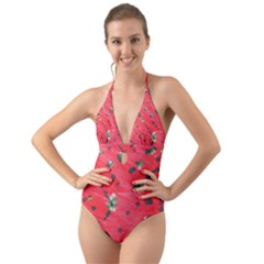 Love Flow Halter Cut Out One Piece Swimsuit