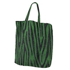 Skin4 Black Marble & Green Leather Giant Grocery Zipper Tote by trendistuff