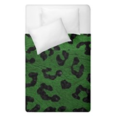 Skin5 Black Marble & Green Leather Duvet Cover Double Side (single Size) by trendistuff