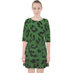 Skin5 Black Marble & Green Leather Pocket Dress