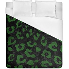 Skin5 Black Marble & Green Leather (r) Duvet Cover (california King Size) by trendistuff