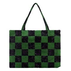 Square1 Black Marble & Green Leather Medium Tote Bag by trendistuff