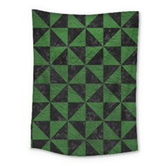 Triangle1 Black Marble & Green Leather Medium Tapestry by trendistuff