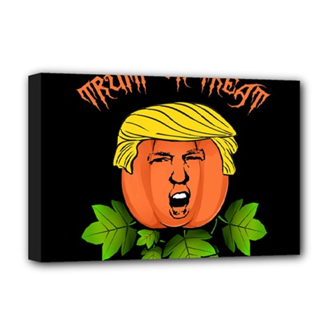 Trump Or Treat  Deluxe Canvas 18  X 12