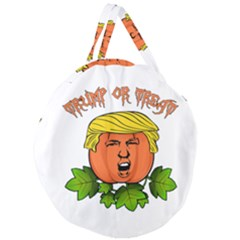Trump Or Treat  Giant Round Zipper Tote by Valentinaart