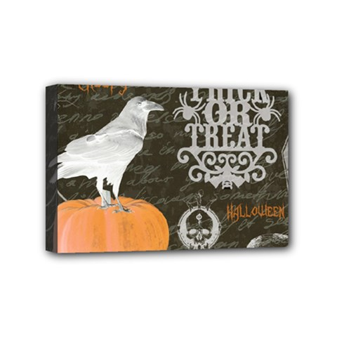 Vintage Halloween Mini Canvas 6  X 4  by Valentinaart