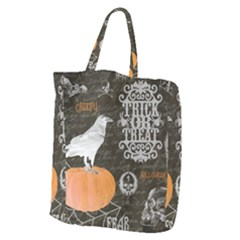 Vintage Halloween Giant Grocery Zipper Tote
