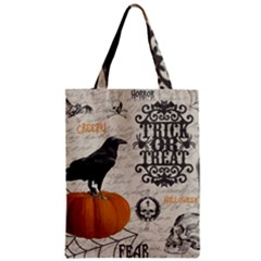 Vintage Halloween Zipper Classic Tote Bag by Valentinaart