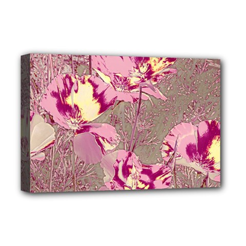 Amazing Glowing Flowers 2b Deluxe Canvas 18  X 12   by MoreColorsinLife