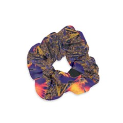 Amazing Glowing Flowers 2a Velvet Scrunchie by MoreColorsinLife