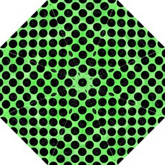 Circles2 Black Marble & Green Watercolor (r) Straight Umbrellas by trendistuff