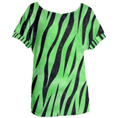 Skin3 Black Marble & Green Watercolor (r) Women s Oversized Tee
