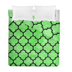 Tile1 Black Marble & Green Watercolor (r) Duvet Cover Double Side (full/ Double Size) by trendistuff