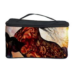 Awesome Creepy Running Horse With Skulls Cosmetic Storage Case by FantasyWorld7